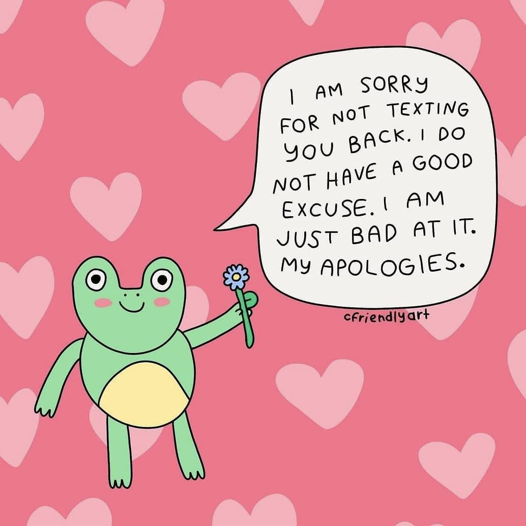 Always sorry  (by @cfriendlyart)