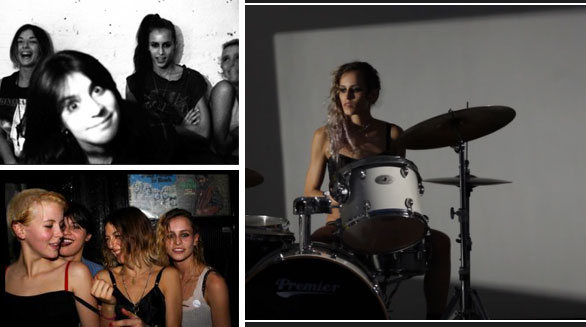 alice dellal band Video: Top Model Alice Dellal posiert für ihre Band in Unterwäsche