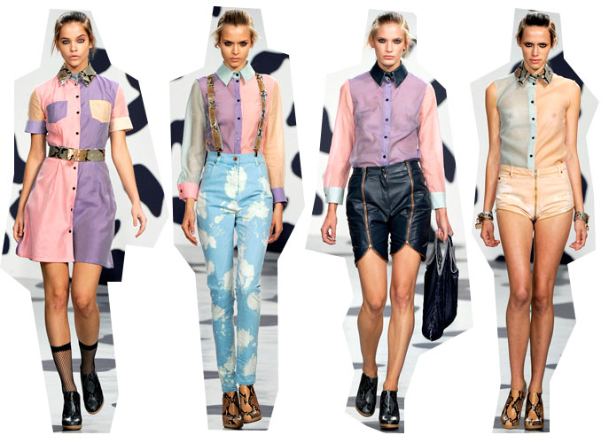 house of holland ss12 House of Holland SS 2012: Die Three Tone Blusen der Pastel Punks
