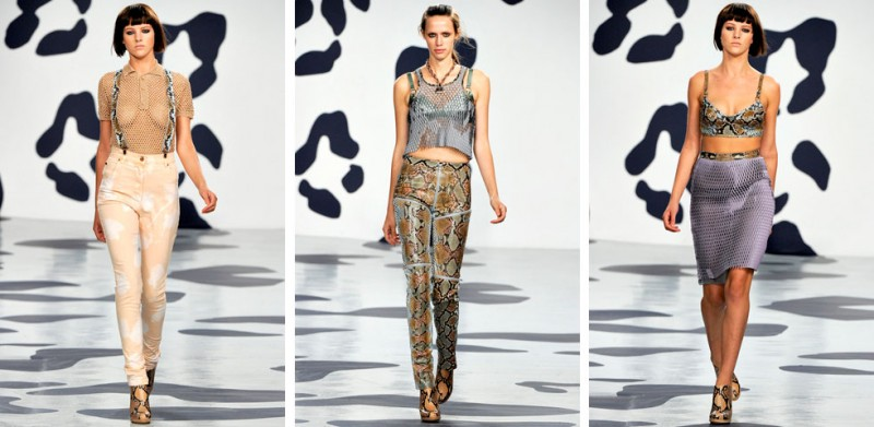 houseofhollandss12 800x391 House of Holland SS 2012: Die Three Tone Blusen der Pastel Punks
