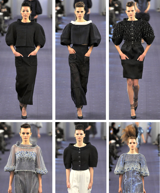 chanel couture 2012 Chanel Couture Spring 2012: Enorme Ärmel   Do or Dont?