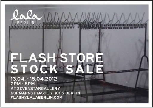 lala eflyer 513x363 Reminder: Designer Sale & Lala Berlin FLASH STORE STOCK SALE