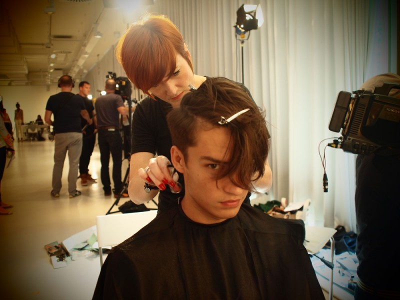 Photo and Video Backstage at Michalsky with Wella Professionals