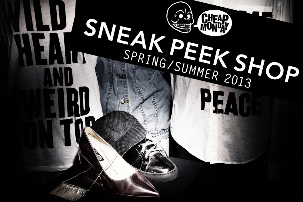 "Sneak Peek Shop picture Kopie Cheap Monday lüftet geheimes Konzept: Der DIGITAL ""SNEAK PEEK SHOP"" öffnet morgen seine Pforten"