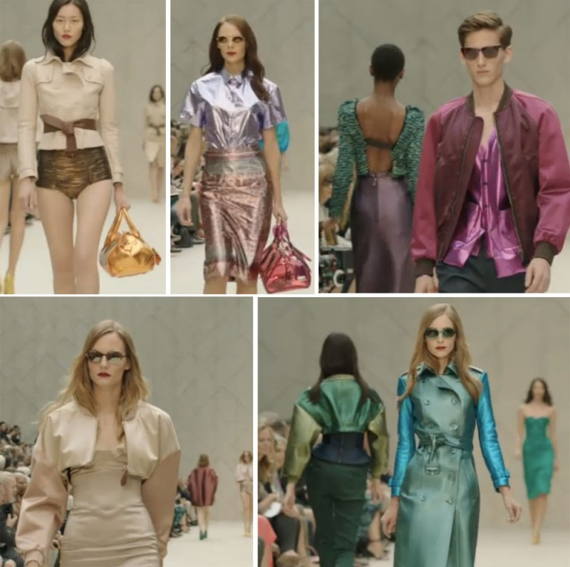 Burberry Prorsum 5 800x796 London Fashion Week: Burberry Prorsum S/S 2013   Im technoiden Märchenwald