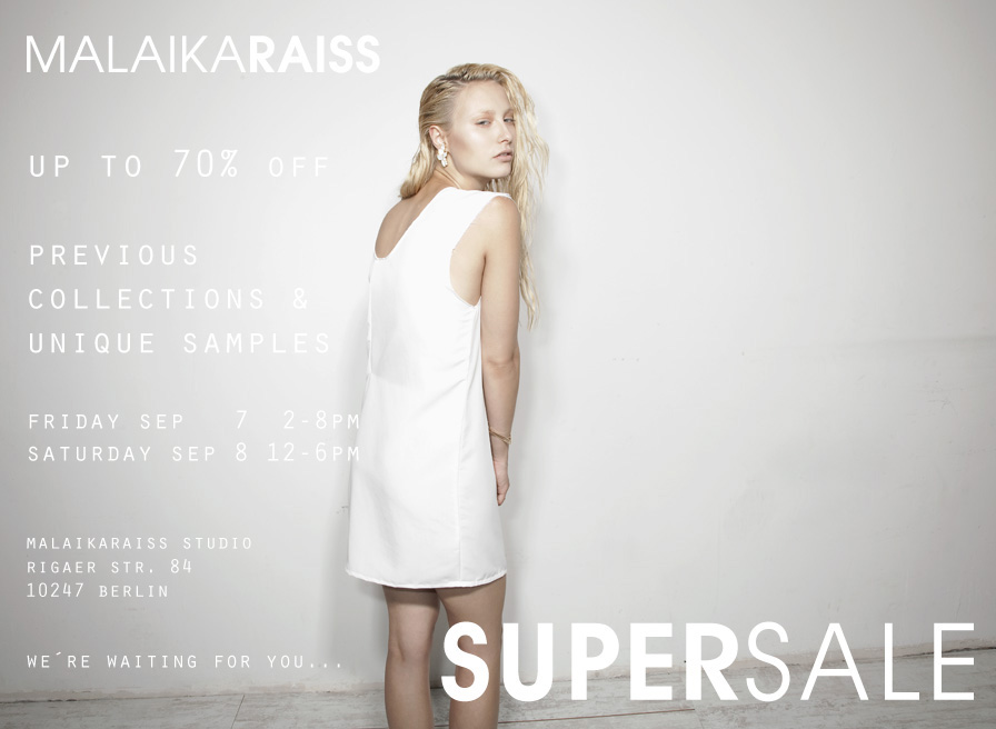 sale flyer 092012 SuperSampleSale bei MALAIKARAISS!