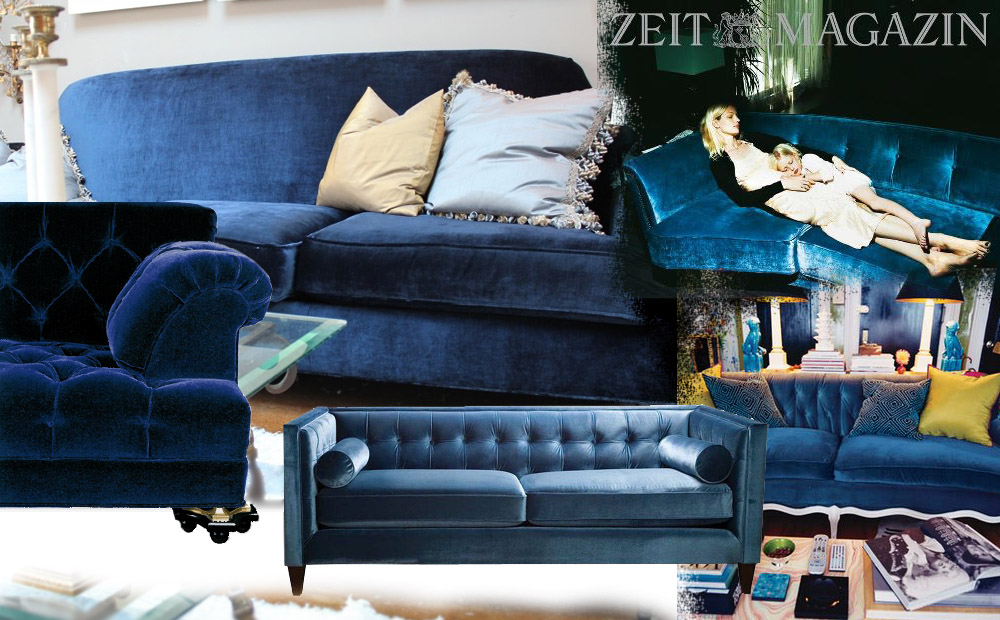 wanted das blaue samtsofa jane wayne news. Black Bedroom Furniture Sets. Home Design Ideas