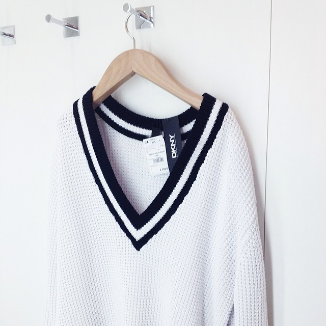 DKNY V Neck Jumper