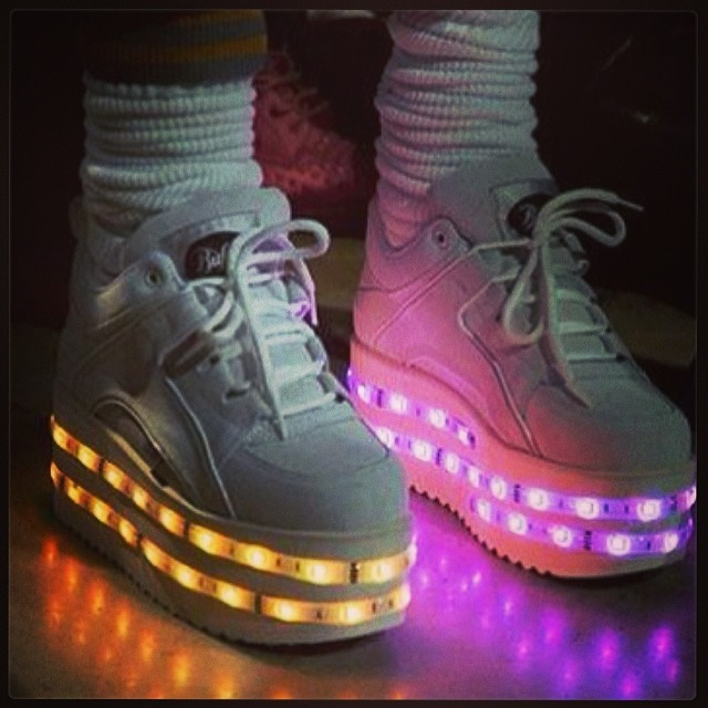 led shoes ashish