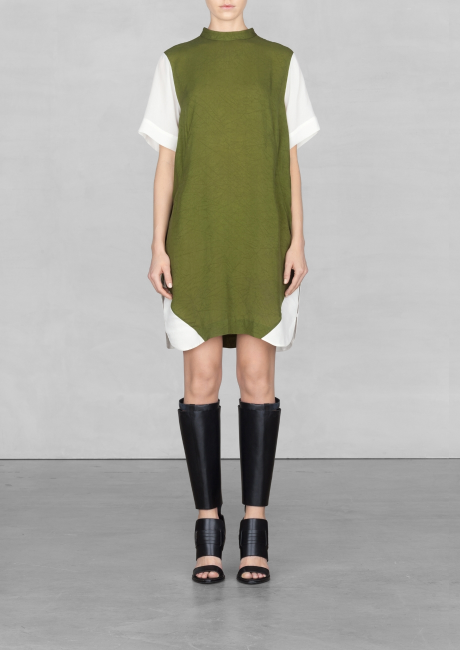 High Neck shirt dress and other stories