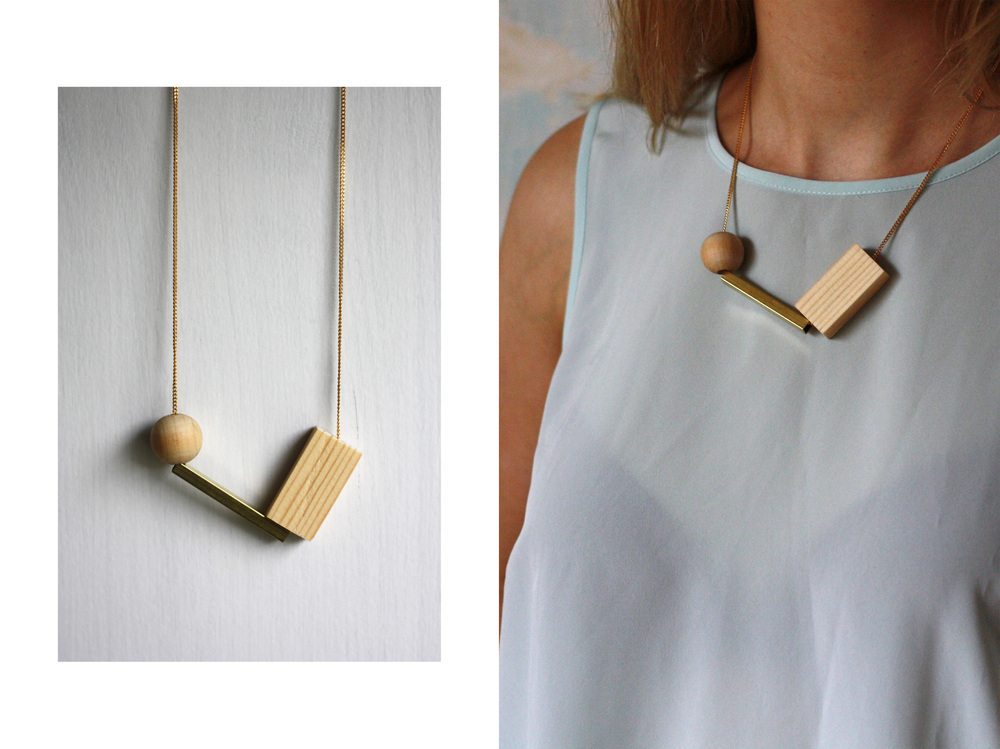 Necklace_Wood_love_One
