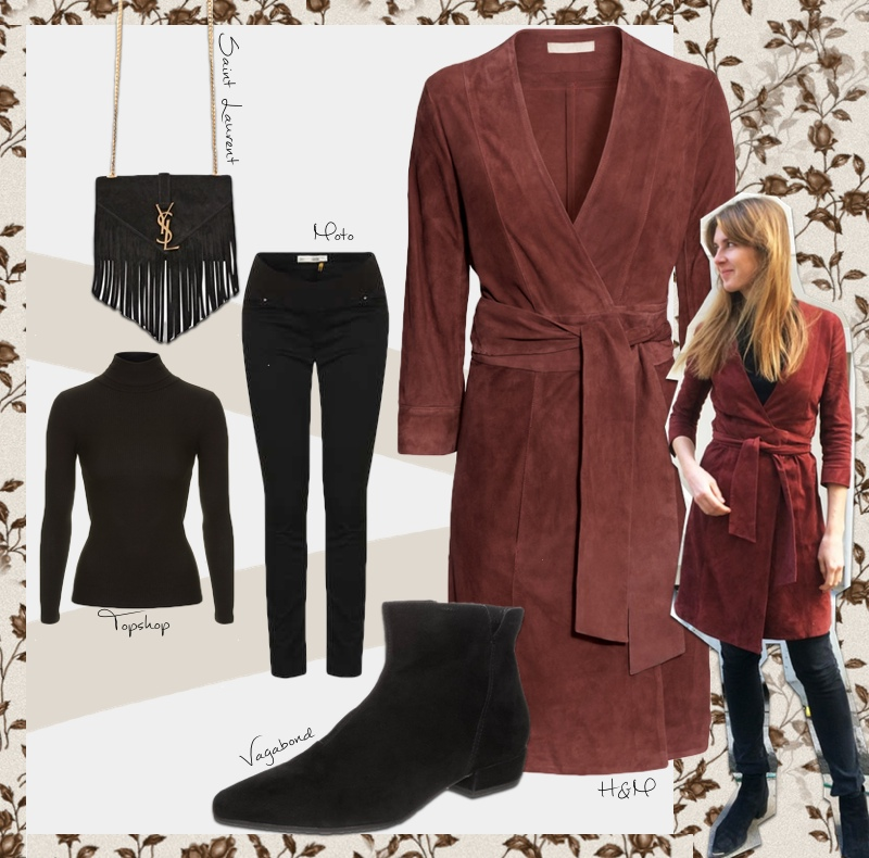 shop the look hm wildleder kleid