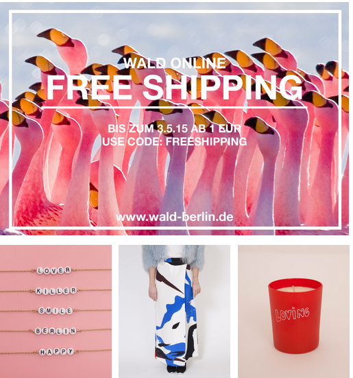 Free Shipping, WALD Online