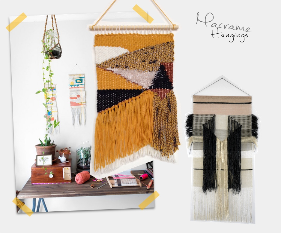 trend macrame hangings