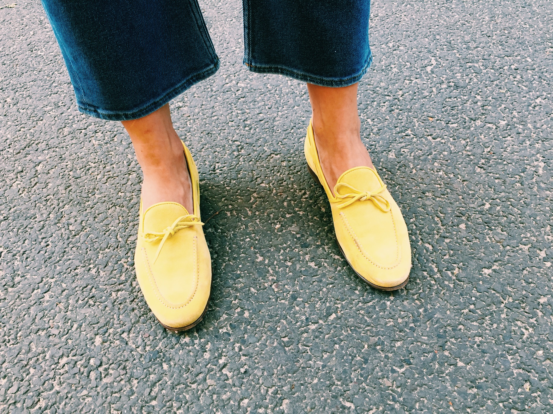 sergio rossi loafer yellow