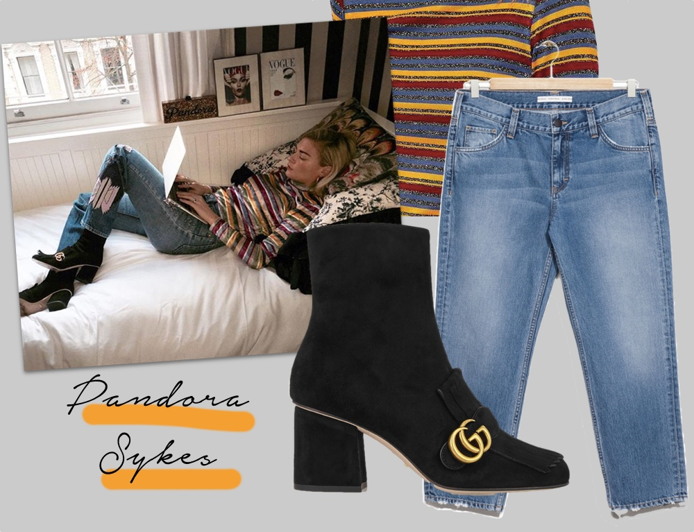 shop the look pandora syked gucci ankle boots