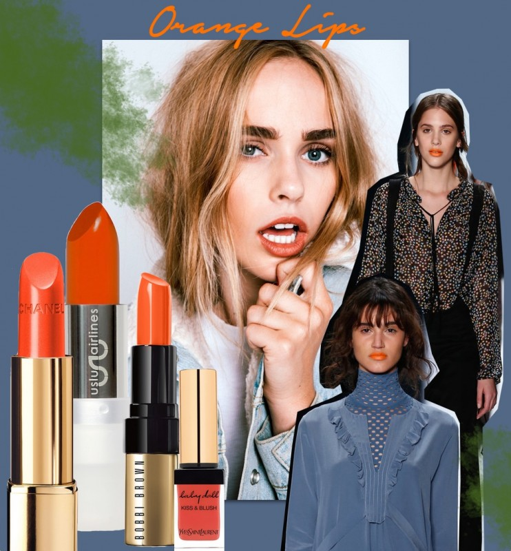 orange lips beauty trend