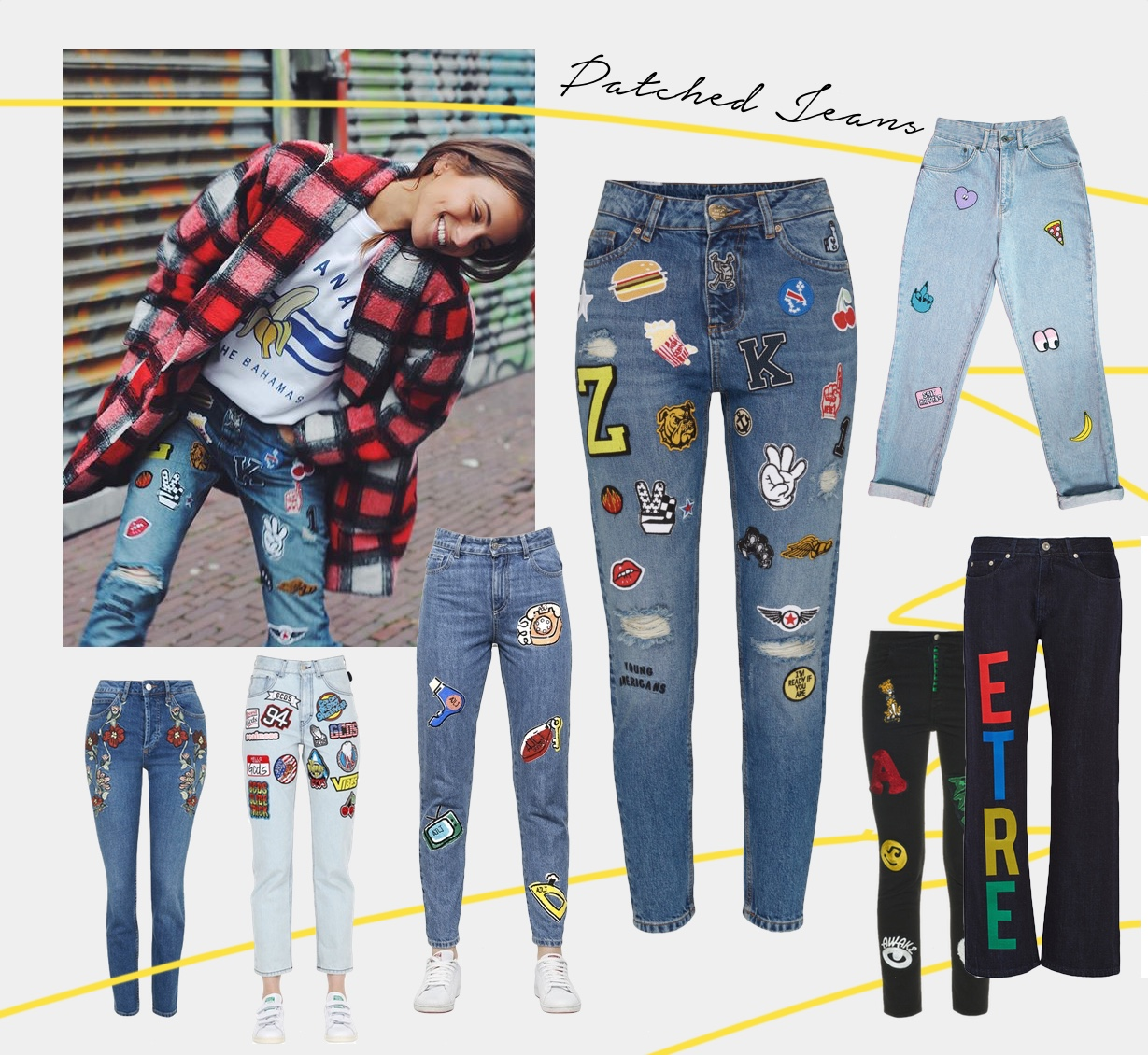 patch jeans shopping