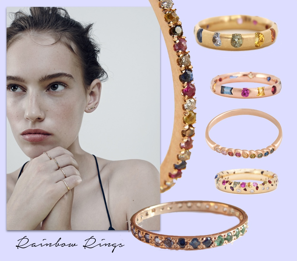 rainbow rings schmuck