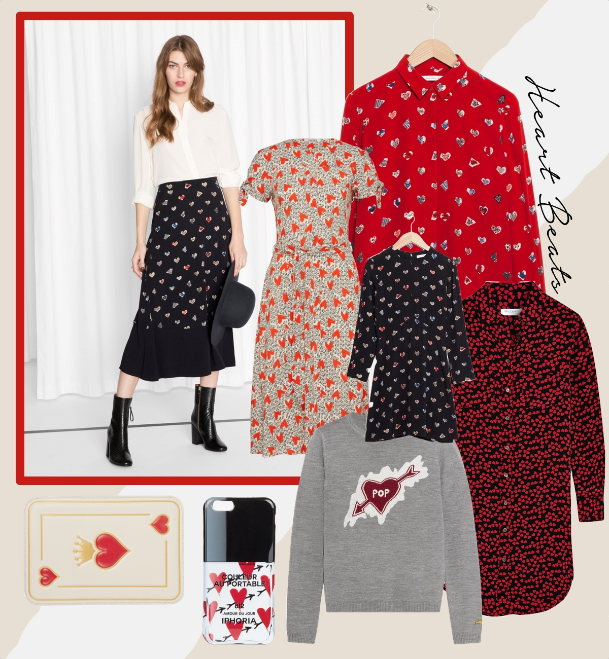 shopping trend heart prints herzen