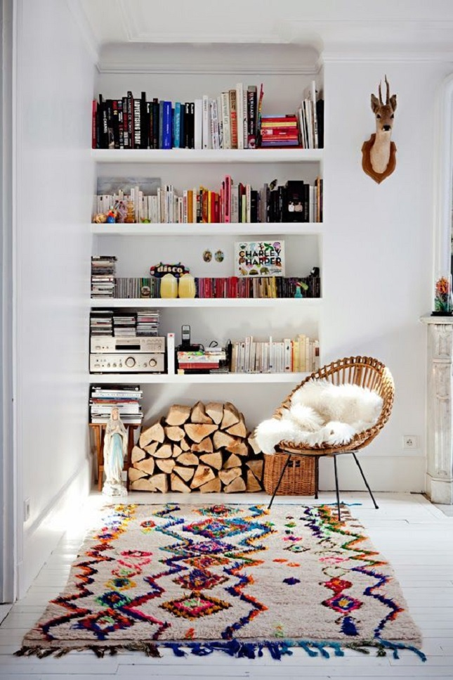 moroccan-rug-reading-nook