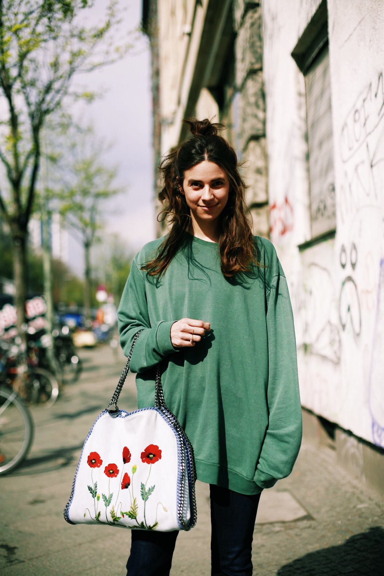 weekday sweater green