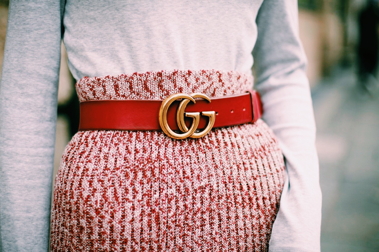 gucci belt red