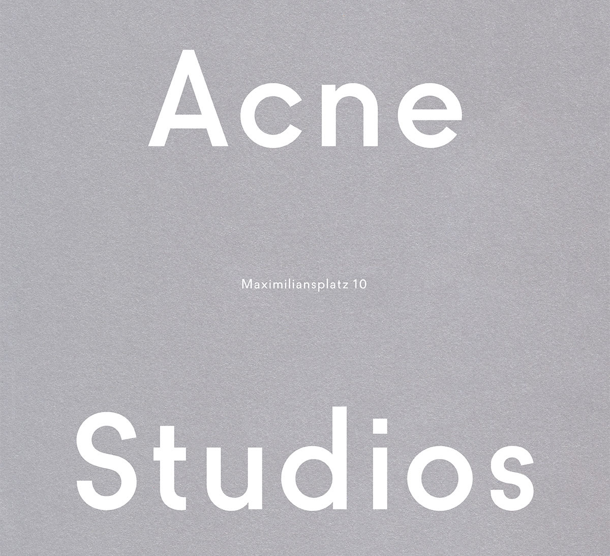 Acne Studios Maximiliansplatz store launch