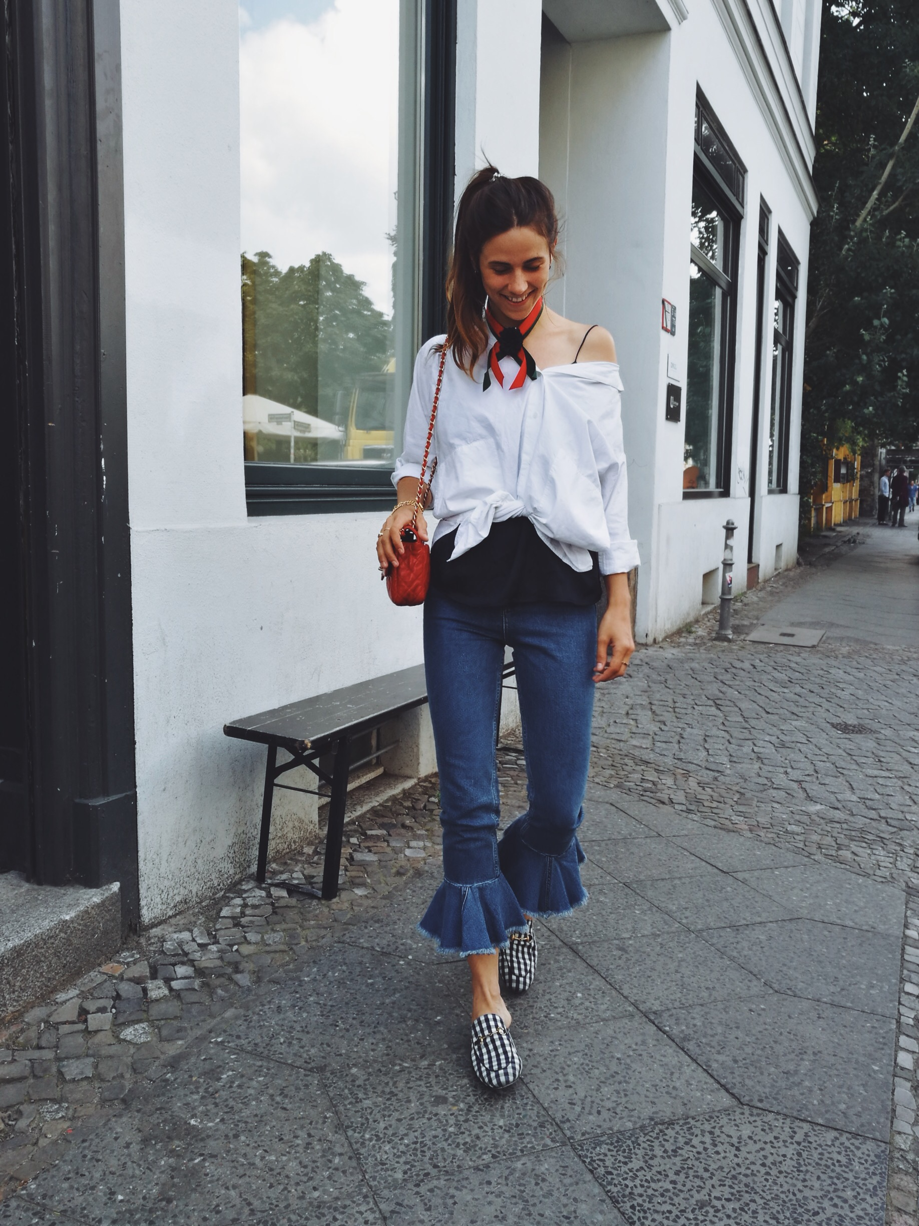 asos frill jeans