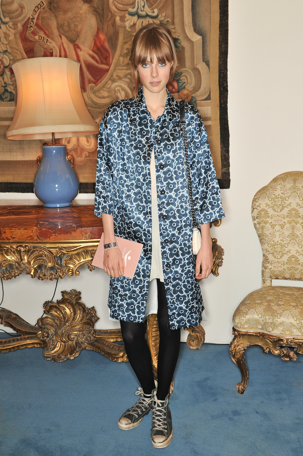 LONDON, ENGLAND - NOVEMBER 29: Edie Campbell attends a catwalk show and auction hosted by Browns, Harpers Bazaar and H.E. Alain Giorgio Maria Economides in aid of Women for Women International on November 29, 2012 in London, England. (Photo by Nick Harvey/WireImage)