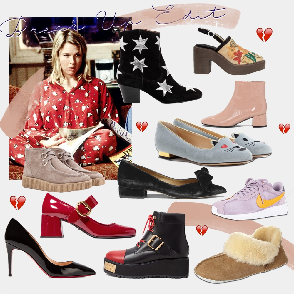 shoe shopping the breakup edit