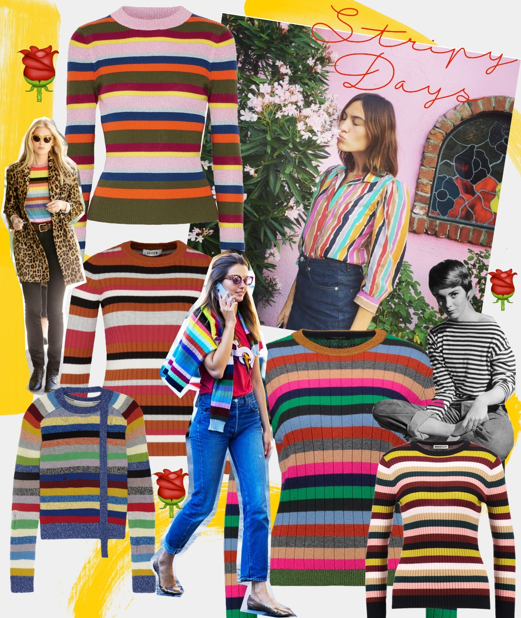 shopping stripy sweater