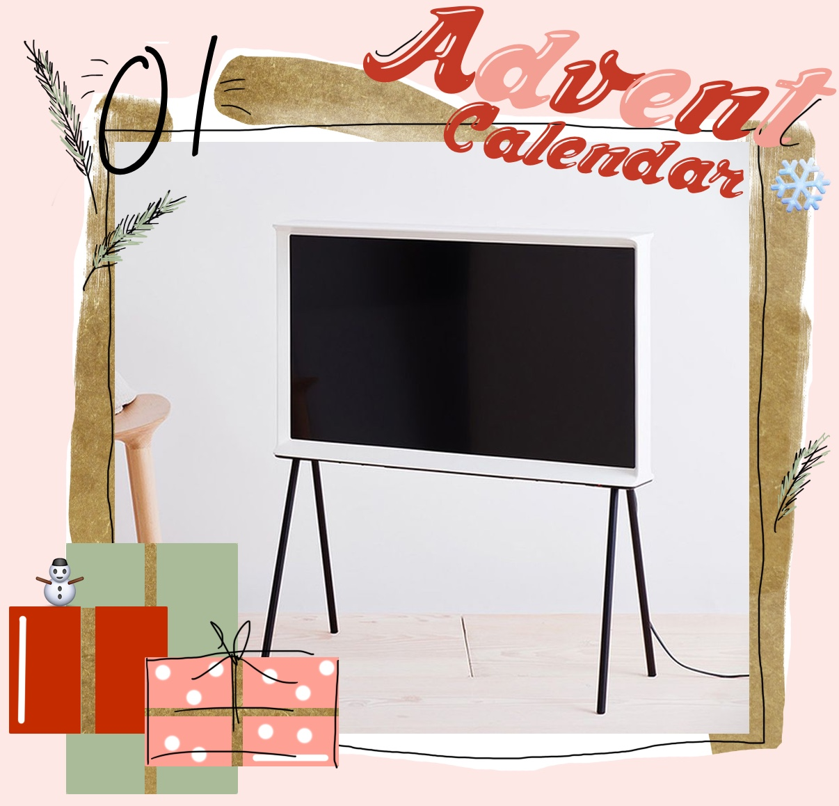 adventskalender 2016 tor 1der samsung serif tv by ronan. Black Bedroom Furniture Sets. Home Design Ideas