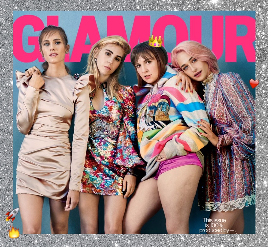girls lena dunham cover cellulite glamour magazine