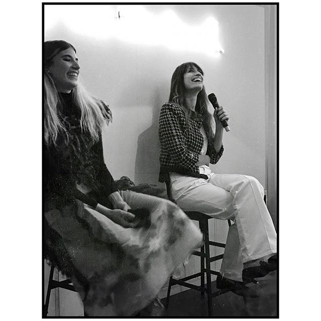 Honored to hear two of my personal style icons talk about fashion lazyness, self expression & creative imagination ️ @veronikaheilbrunner @carolinedemaigret @chanelofficial #gabriellechanel