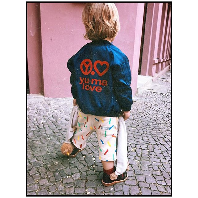 Teddy Task Force ️ And a big thank you to my @yumaloveberlin friends who run a superduper sneaker store for kids in Berlin and sell those jackets you can wear the other way around ️