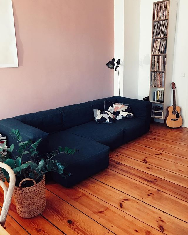 I'm selling my beloved Hay Mags Soft Sofa ️ 2 years old, dark blue felt (insensitive material), 2,7m x 1m/1,3m, original price: 3000 Euros. It's way too big for my small living room.  DM me if you are interested ️