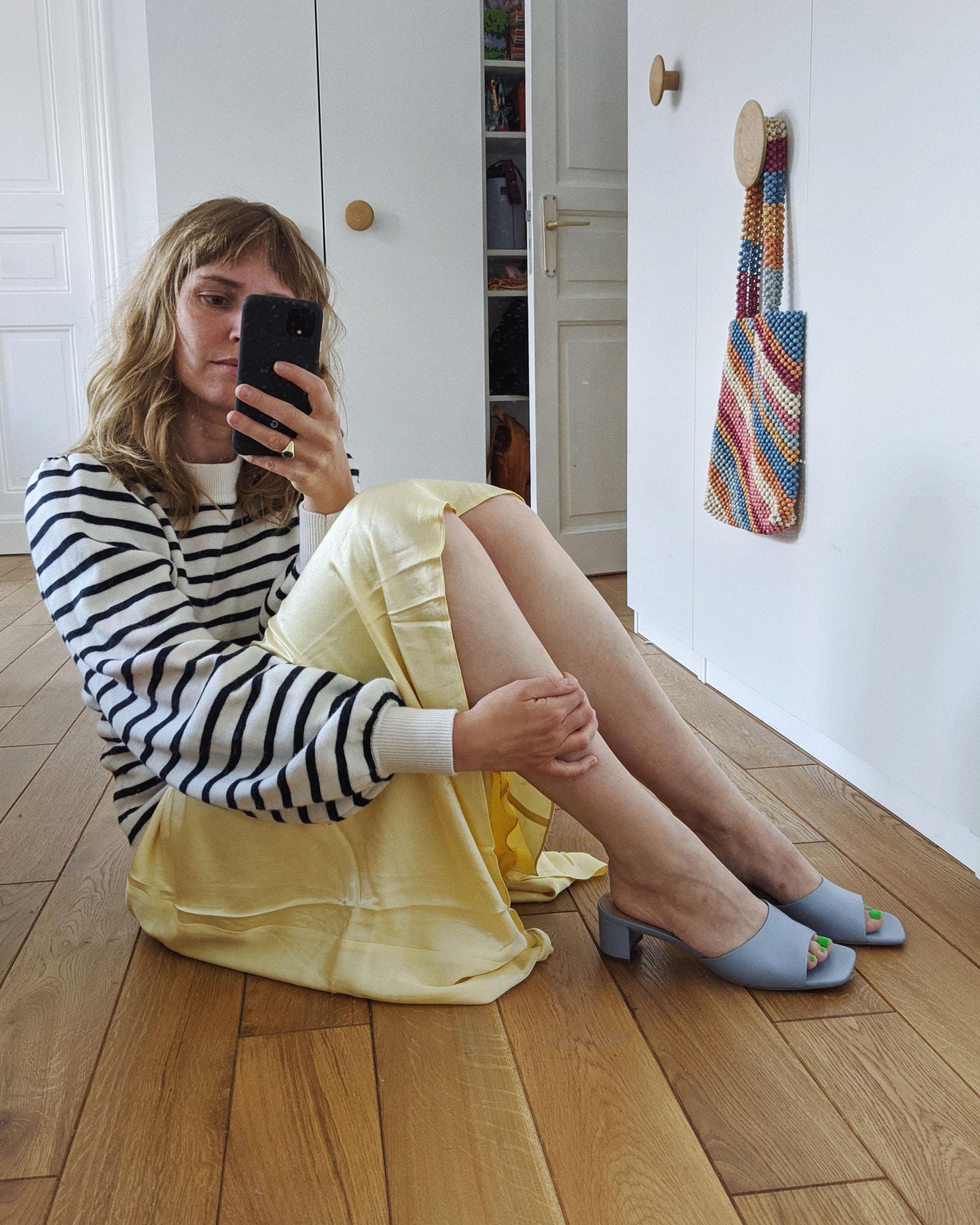 Outfits der Woche // Von grau blonden Haarsträhnen, musikalischen ...